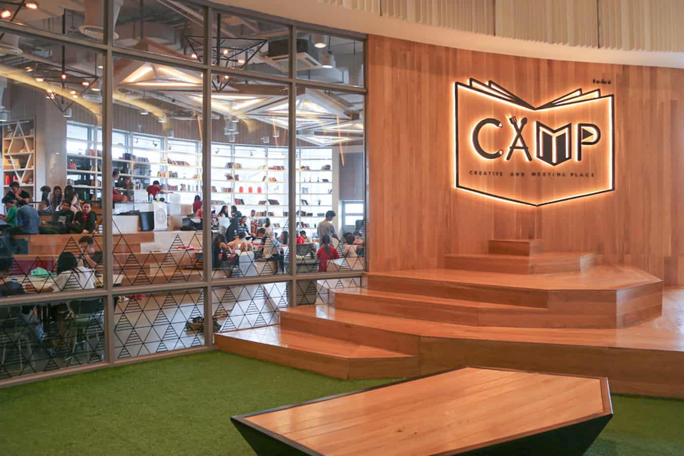 The entrance of CAMP Coworking space in Maya Mall, Chiang Mai