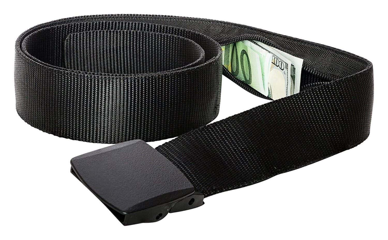 Safely store travel money in a money belt