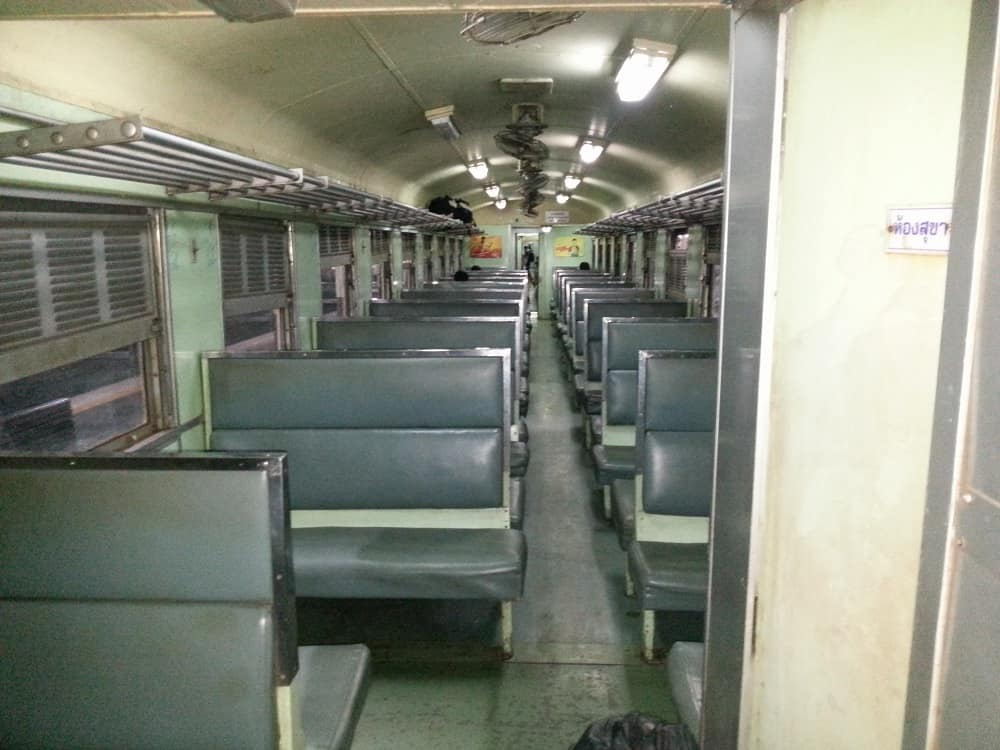 3rd Class Train Carriage from Bangkok to Chiang Mai