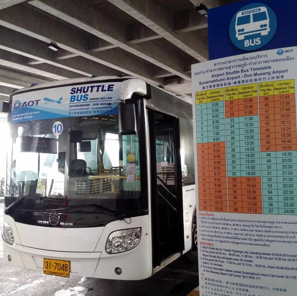Free Shuttle Bus Service from Don Muang to Suvarnabhumi (BKK) airport