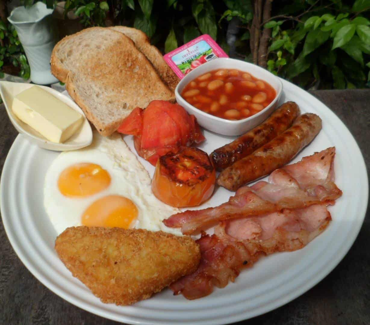 The traditional full English breakfast