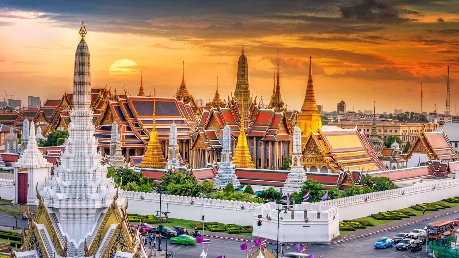 The Grand Palace in Bangkok.